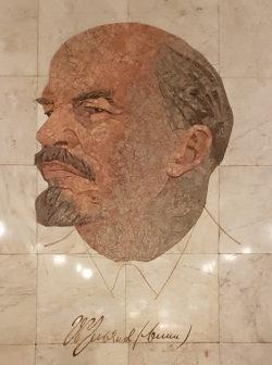 Москва, каменная мозаика, переход на метро «Арбатская»