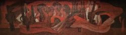 Москва, таканско-краснопресненская линия метро, «Улица 1905 года», мозаика в вестибюле, 1972г