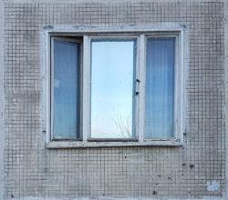 Москва, окно нежилой хрущевки, начало 1960-х гг