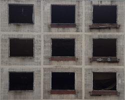 Москва, окна нежилой хрущевки, начало 1960-х гг