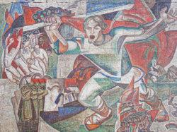 Пенза, мозаика на стене здания