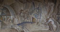 Пенза, мозаика в здании вокзала, 1975 г.