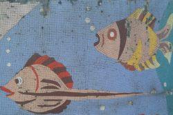 Грузия, Уреки, мозаика, украшение искусственного водоема на территории санатория
