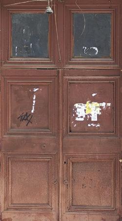 Москва, проспект Мира, дверь жилого дома, застройка 1945-1957гг
