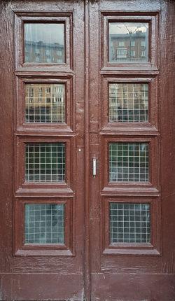 Москва, Ленинградский проспект, дверь жилого дома, застройка 1945-1957гг