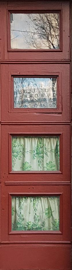 Москва, Ленинградский проспект, дверь жилого дома, застройка 1945-1955гг