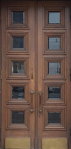 Москва, Кутузовский проспект, дверь жилого дома, застройка 1945-1957гг
