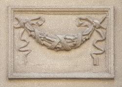 Минск, украшение на фасаде дома, застройка 1940-1950 гг.