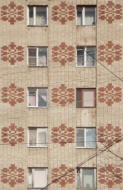 Александров, фасад жилого дома, застройка 80-х гг.