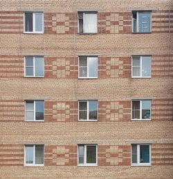 Дмитров, фасад жилого дома, застройка 80-х гг.