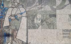 Королев, мозаика, украшение бетонной стелы, 1967г.