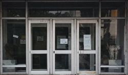Владимир, дверь здания Театра Драмы, 1971г.