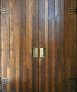 Москва, дверь в здании МХАТ им. Горького, 1973г.