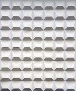 Устюжна, украшение фасада Дома Культуры, застройка 1970-х гг.